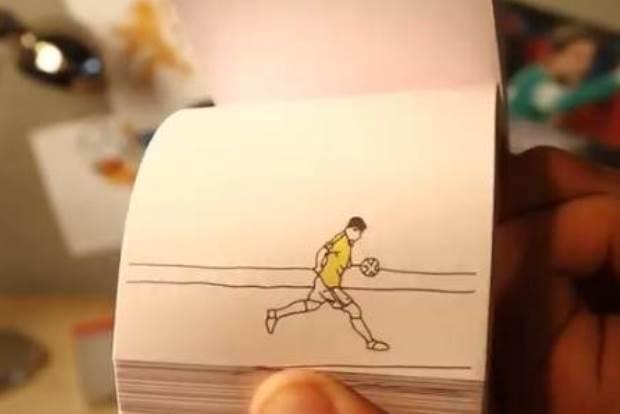 【ブラジルW杯の興奮を再び!】ブラジルW杯を再現したパラパラ漫画が凄いと話題にwww