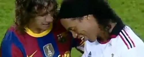 【号泣必至】バルセロナとロナウジーニョの絆を示す動画が涙無しでは見られない