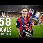 【全部見せます!ALL 58 GOALS】14-15バルセロナでのリオネル・メッシ全ゴール動画!