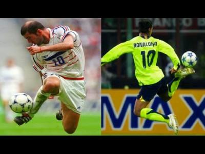 【ロナウジーニョ vs ジダン】魔法を操る、サッカー史上最高のファンタジスタは?
